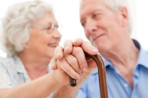 Serene senior couple